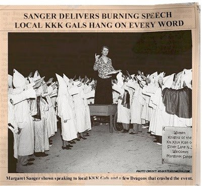 Margaret Sanger speaks to KKK gals